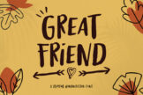 Last preview image of Great Friends-Instagram Font