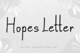 Last preview image of Hopes Letter