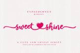 Last preview image of Sweetshine – Craft Font