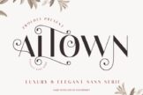Last preview image of ALTOWN Business Font