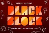 Last preview image of Black Block Gaming Font