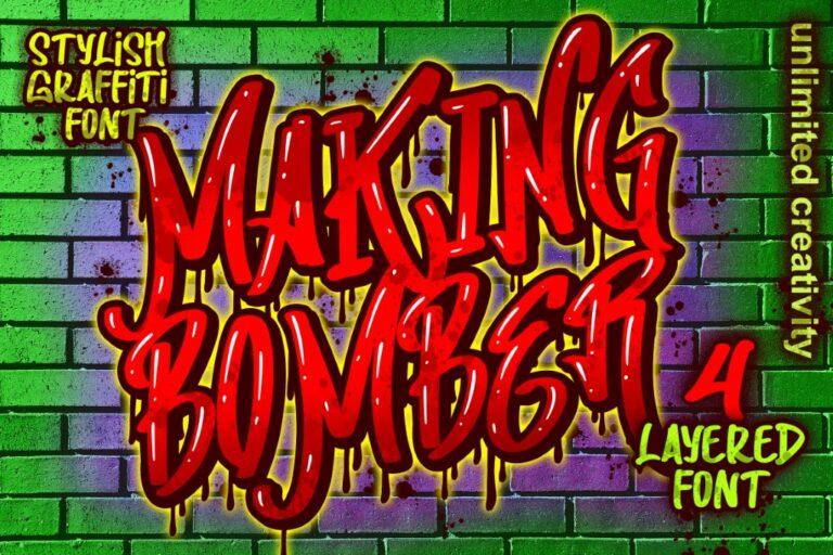 Making Bomber Graffiti Font