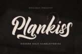 Last preview image of Plankiss Logotype Font