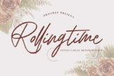 Last preview image of Rolling Time Wedding Font