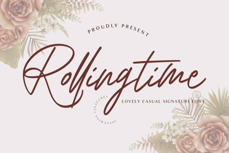 Rolling Time Wedding Font